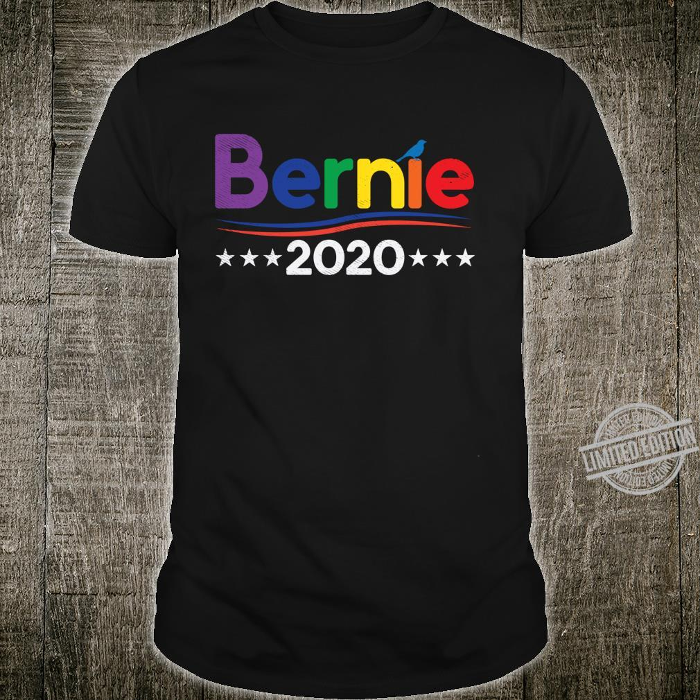 Bernie 2020 Rainbow Colors Gay LGBT Sanders For President Shirt