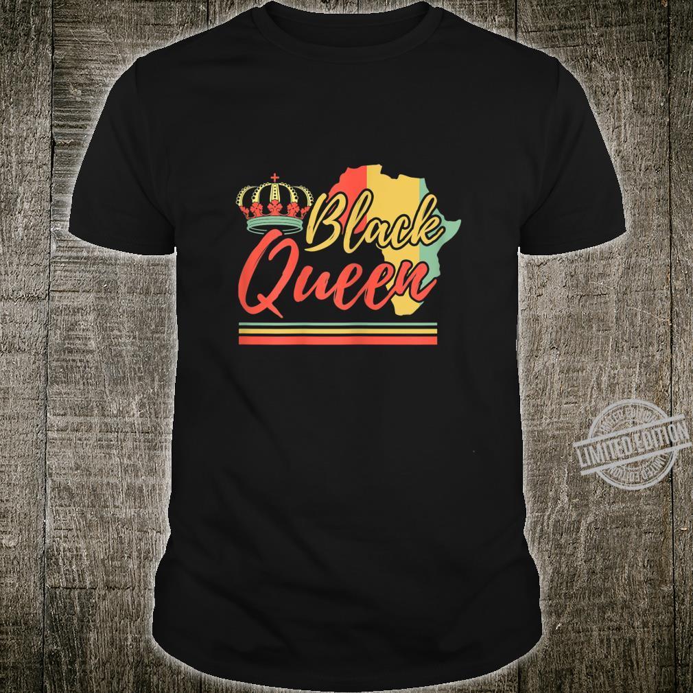 Black Queen Afrikanerin Geschichte Afrika Karte Geschenk Shirt