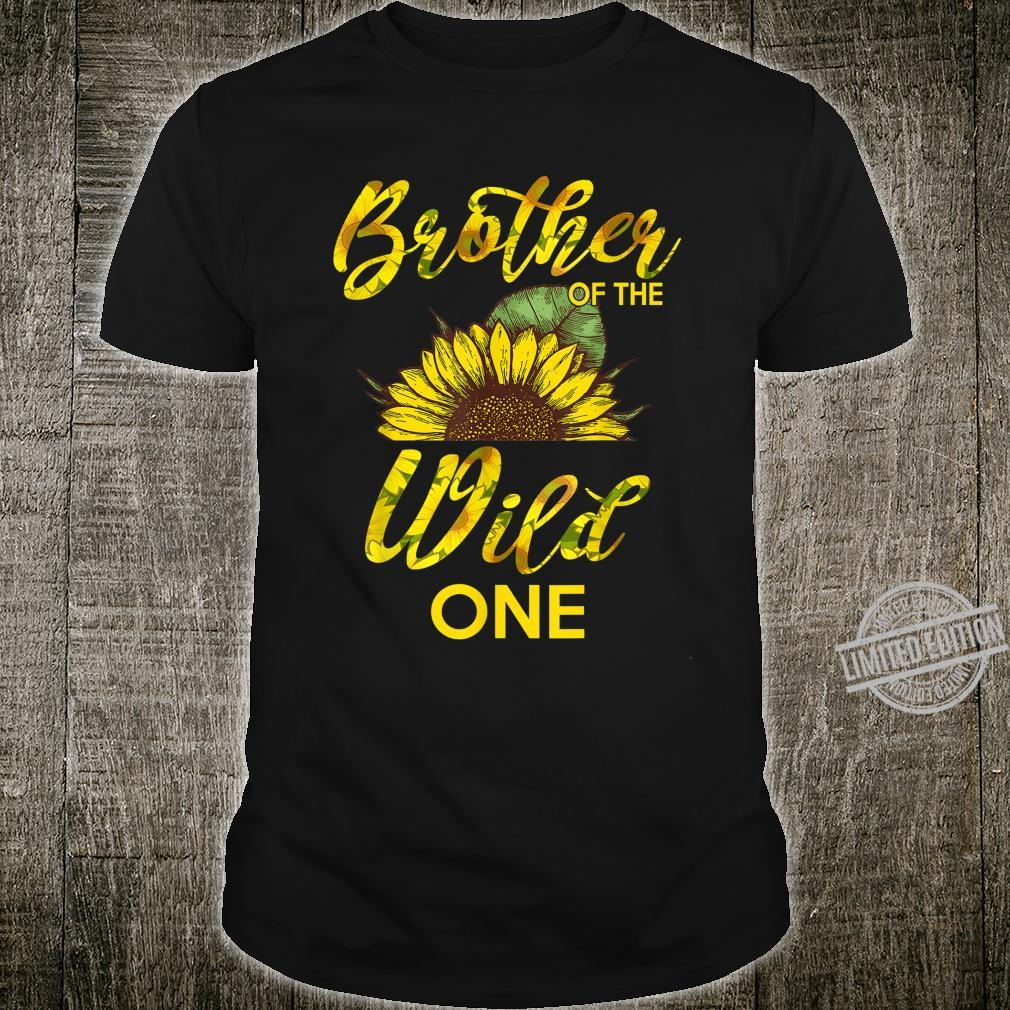 Brother Of The Wild One1St Birthday Sunflower Outfit Shirt