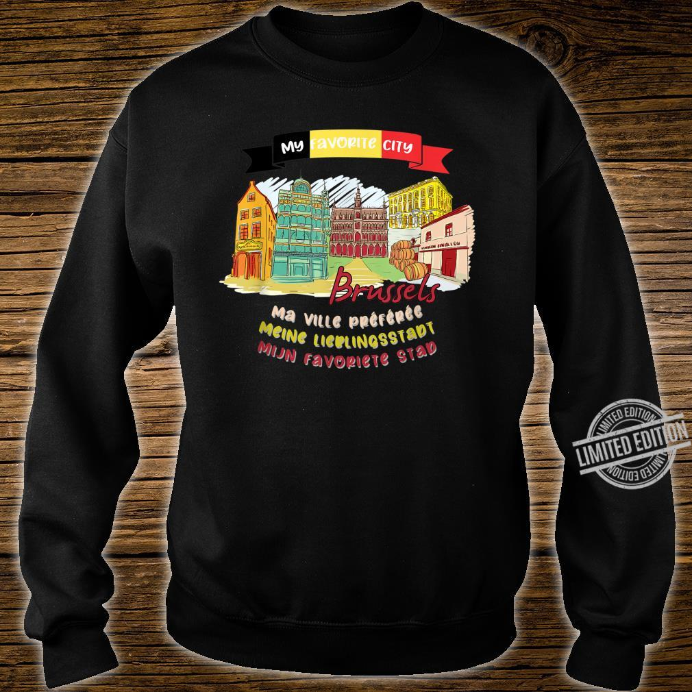 Brussels is My Favorite City Summer Vacation Trip Design Shirt sweater