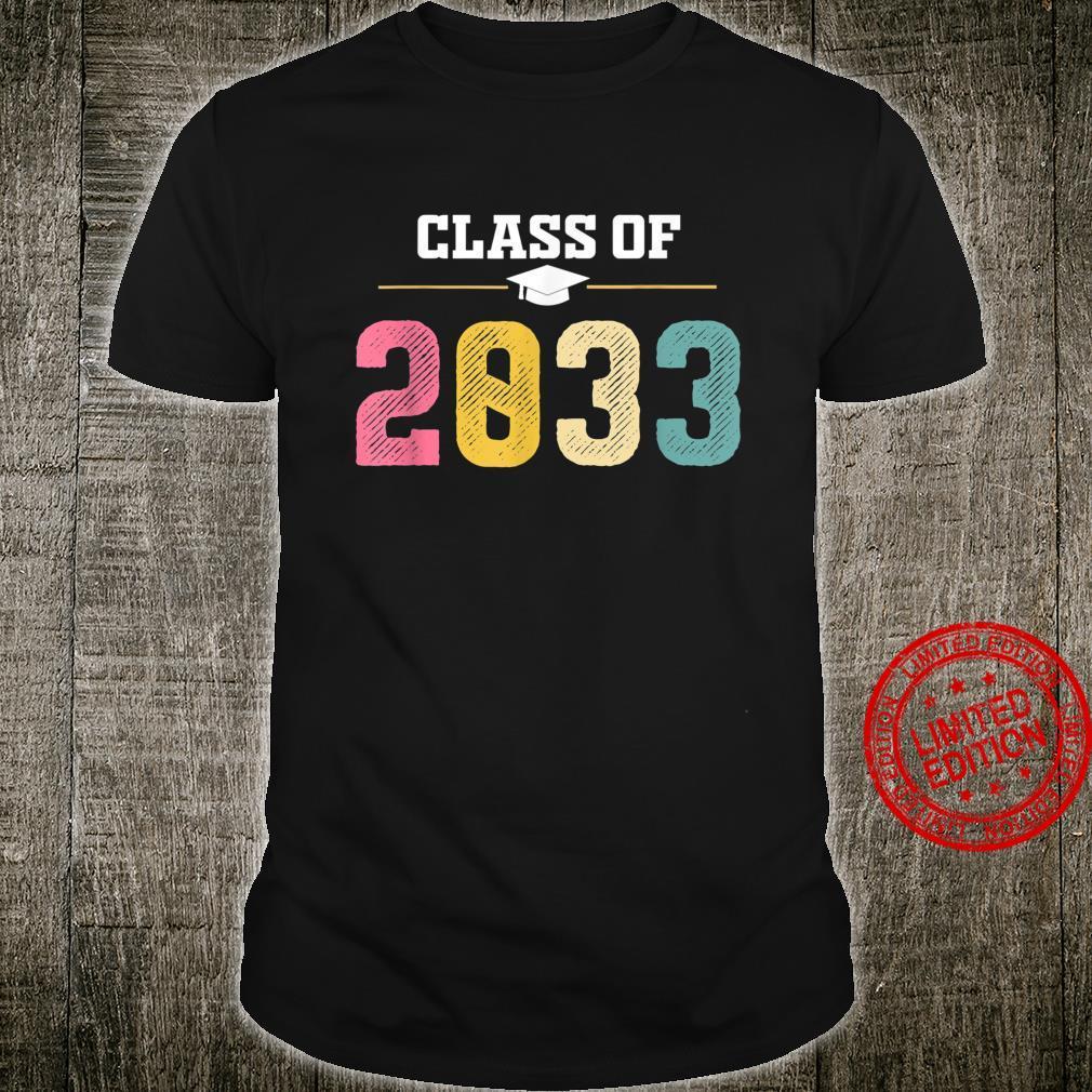 Class Of 2033 Shirt PreK Graduate Preschool Graduation Shirt