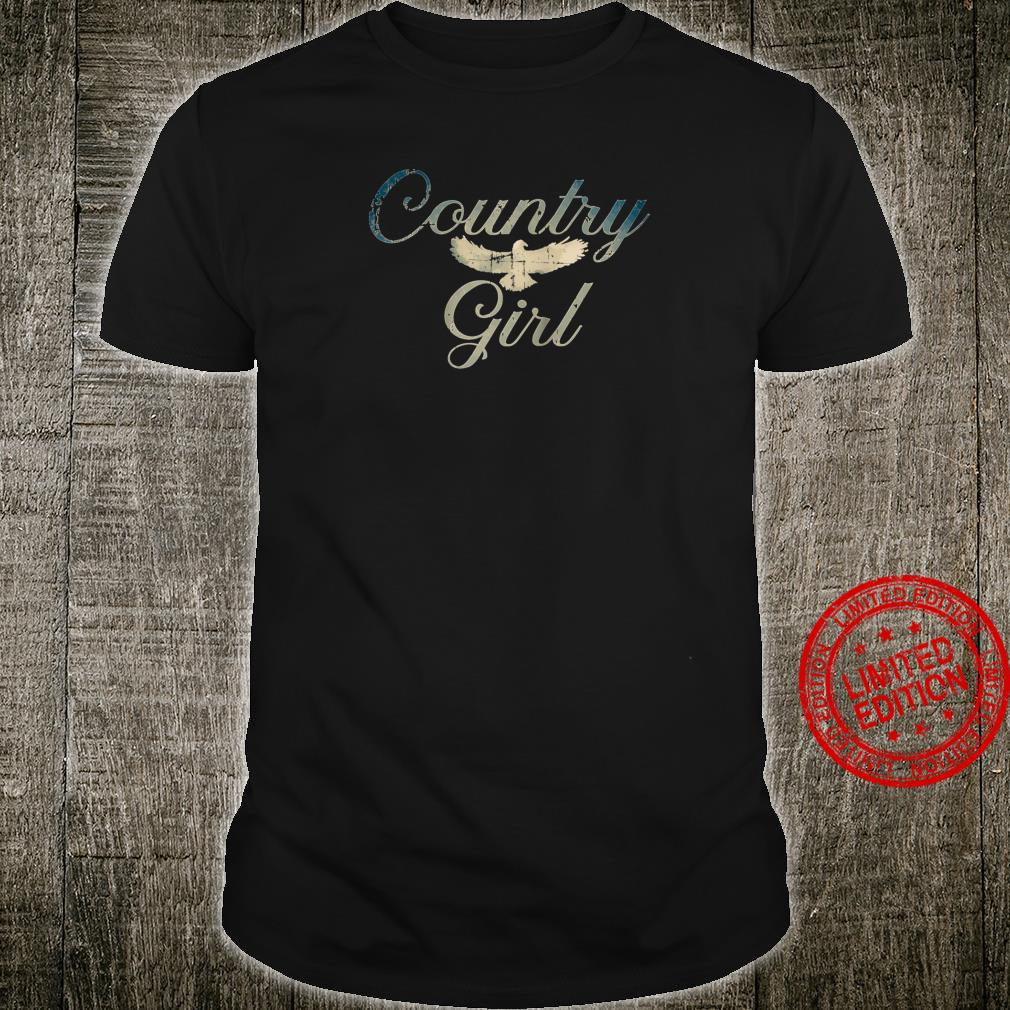 Country Girls Eagle Distressed Design Shirt