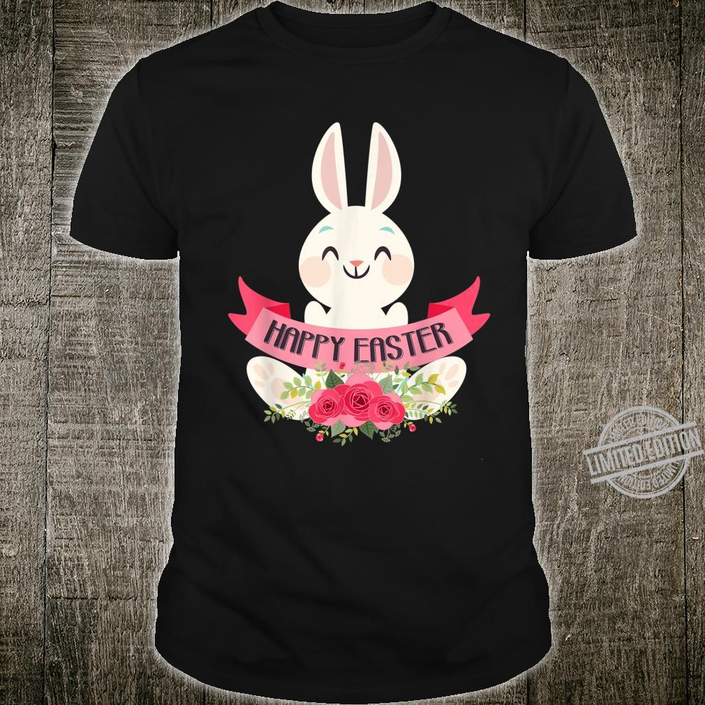 Cute Bunny Rabbit Eggs Easter Girls Boys Happy Easter Day Shirt