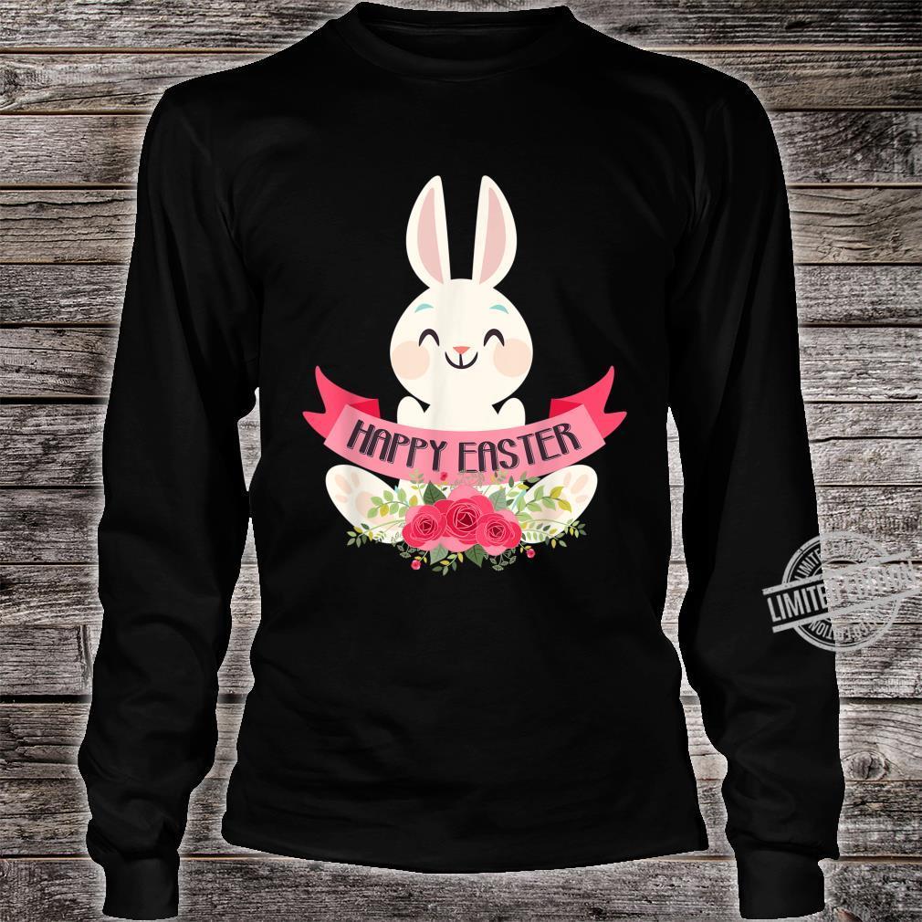 Cute Bunny Rabbit Eggs Easter Girls Boys Happy Easter Day Shirt long sleeved