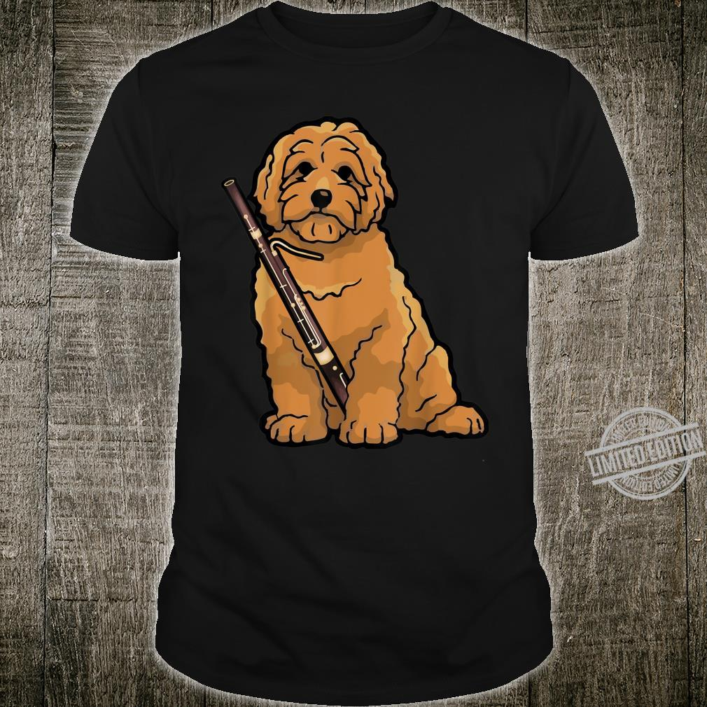 Cute Goldendoodle Dog Playing Bassoon Shirt