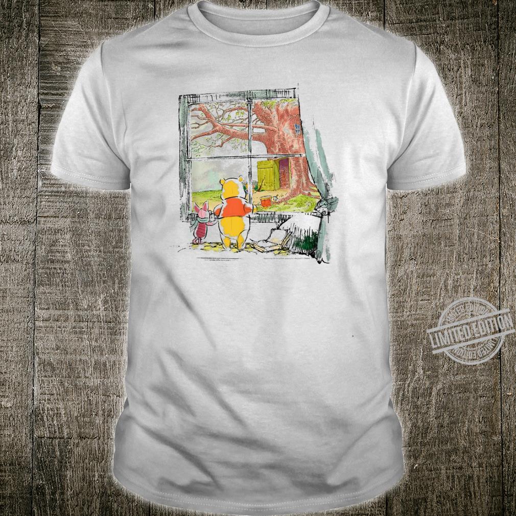 Disney Winnie The Pooh Piglet And Pooh Window Sketch Shirt