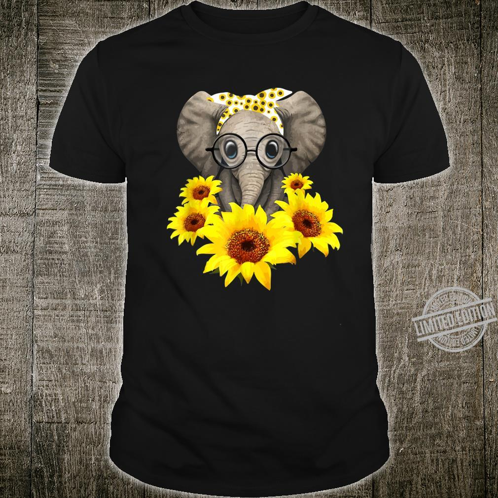 Elephant Sunflower Cute Elephant Love Sunflower Shirt