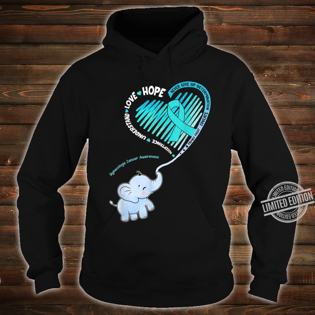Elephant With Ribbon Gynecologic Cancer Awareness Shirt hoodie