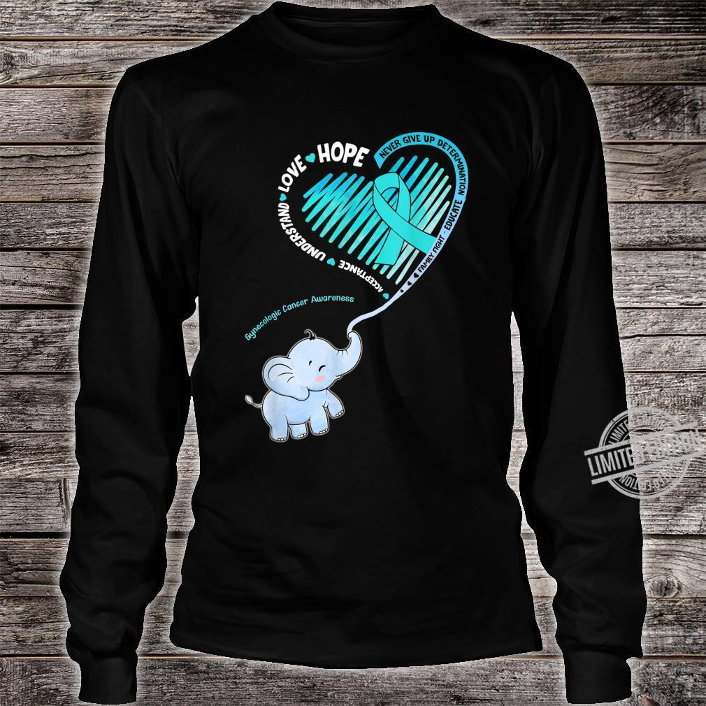 Elephant With Ribbon Gynecologic Cancer Awareness Shirt long sleeved