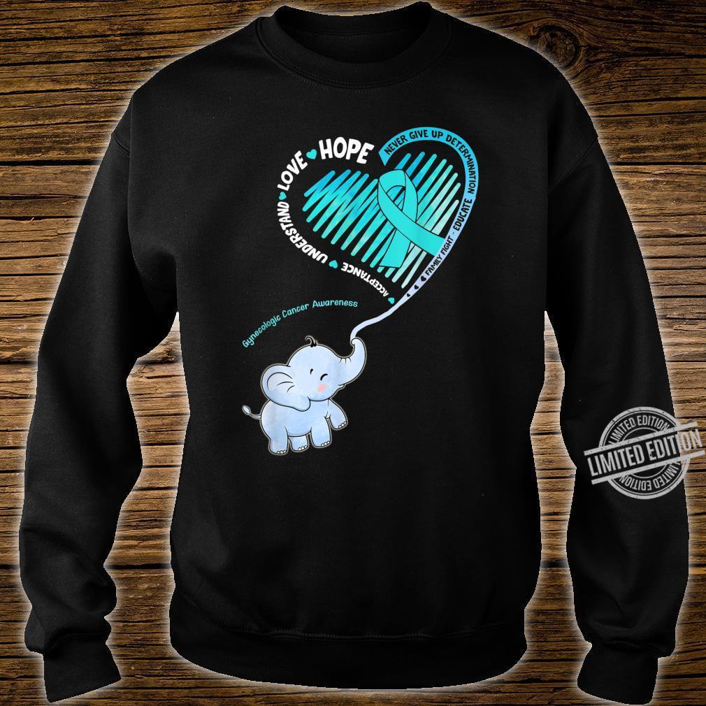 Elephant With Ribbon Gynecologic Cancer Awareness Shirt sweater