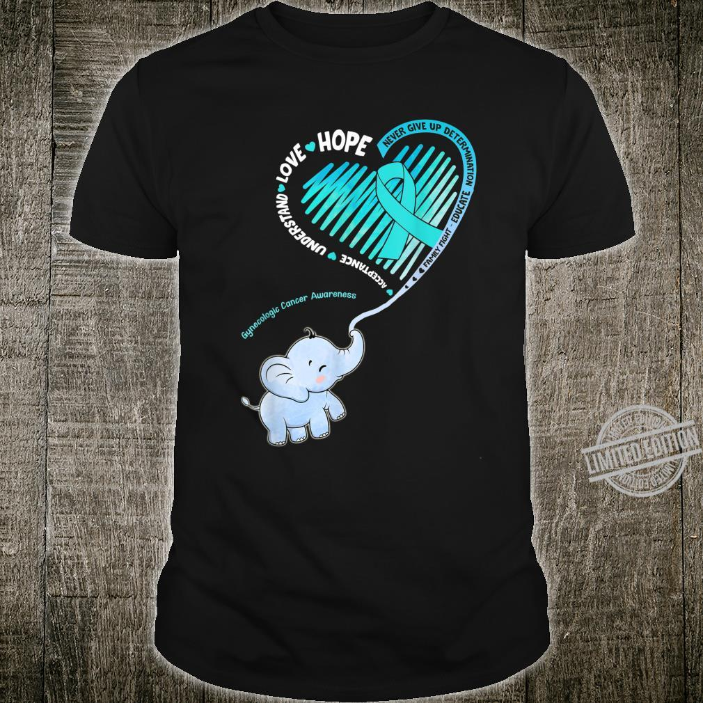 Elephant With Ribbon Gynecologic Cancer Awareness Shirt