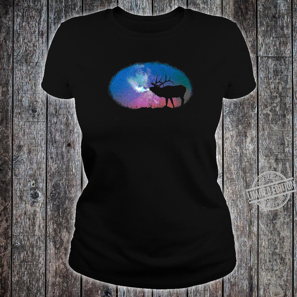 Elkaholic American Bull Elk Hunter Dad Bow Hunting Cool Shirt ladies tee