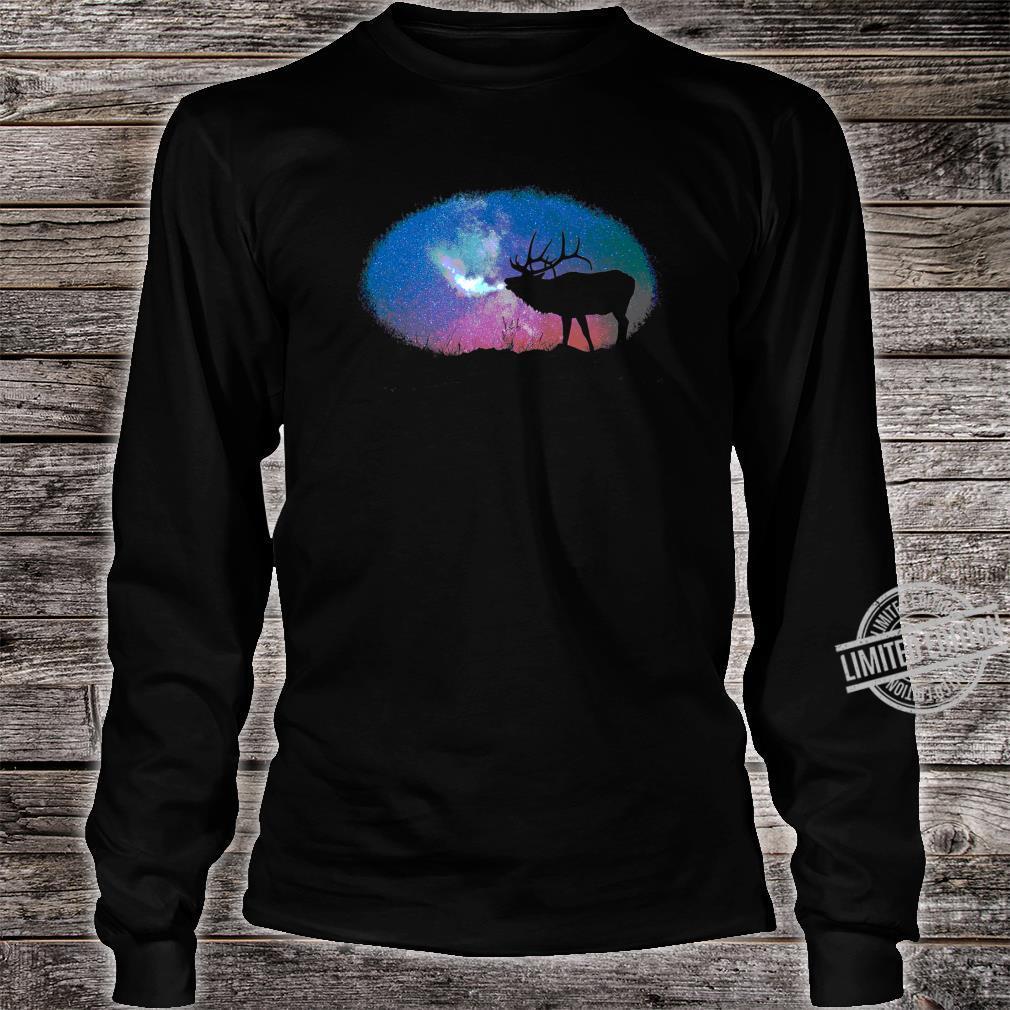 Elkaholic American Bull Elk Hunter Dad Bow Hunting Cool Shirt long sleeved