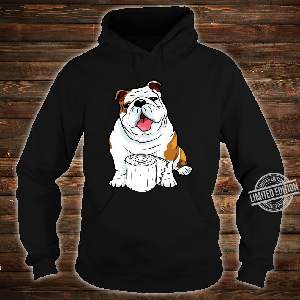 English Bulldog Toilet Paper Shortage Virus Flu Panic 2020 Shirt hoodie