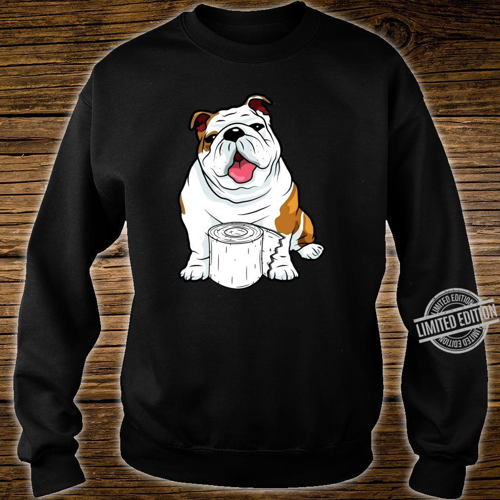 English Bulldog Toilet Paper Shortage Virus Flu Panic 2020 Shirt sweater