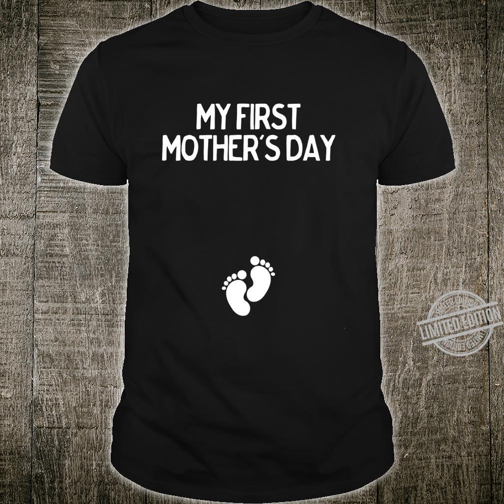 Erster Muttertag Schwangerschaft Ankündigung Langarmshirt Shirt