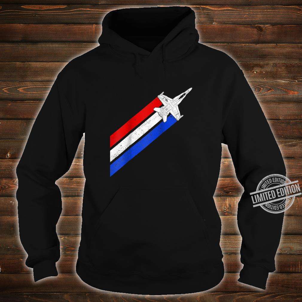 F18 Hornet Airplane Schematic Vintage Stripes American Flag Shirt hoodie