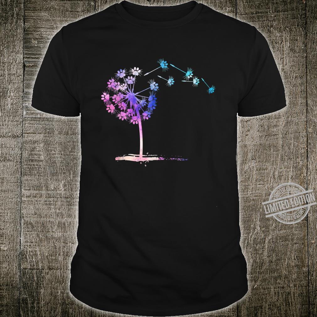 Fly Paw Dog Flower Dandelion Dog Shirt