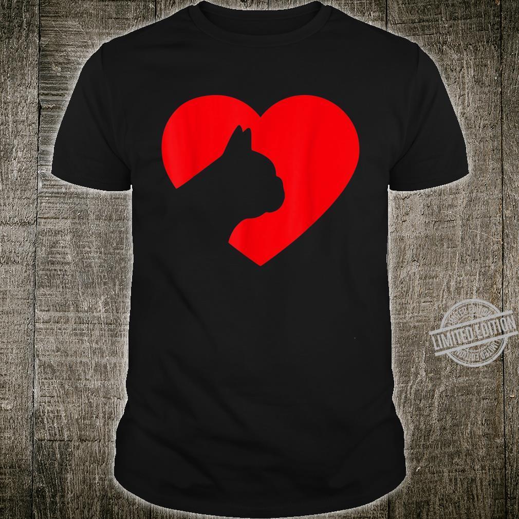 French Bulldog Heart Dog Love Shirt