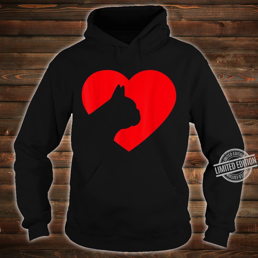 French Bulldog Heart Dog Love Shirt hoodie