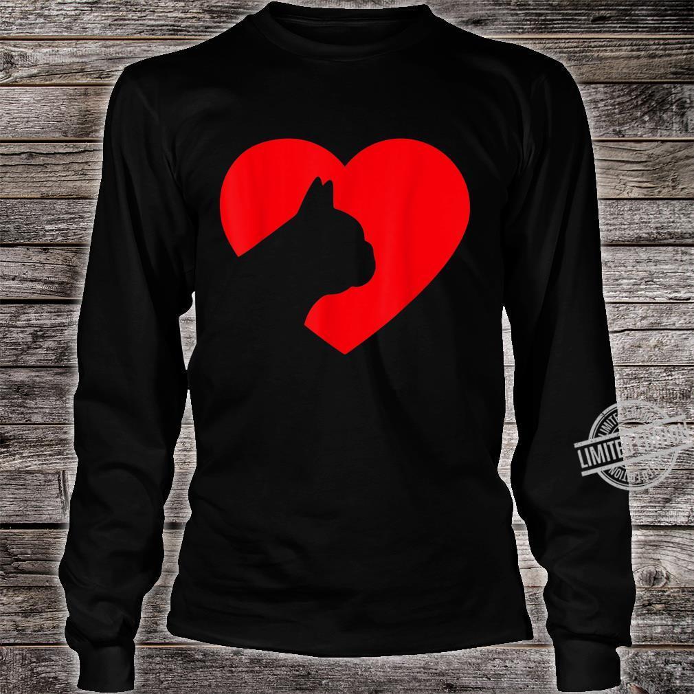 French Bulldog Heart Dog Love Shirt long sleeved