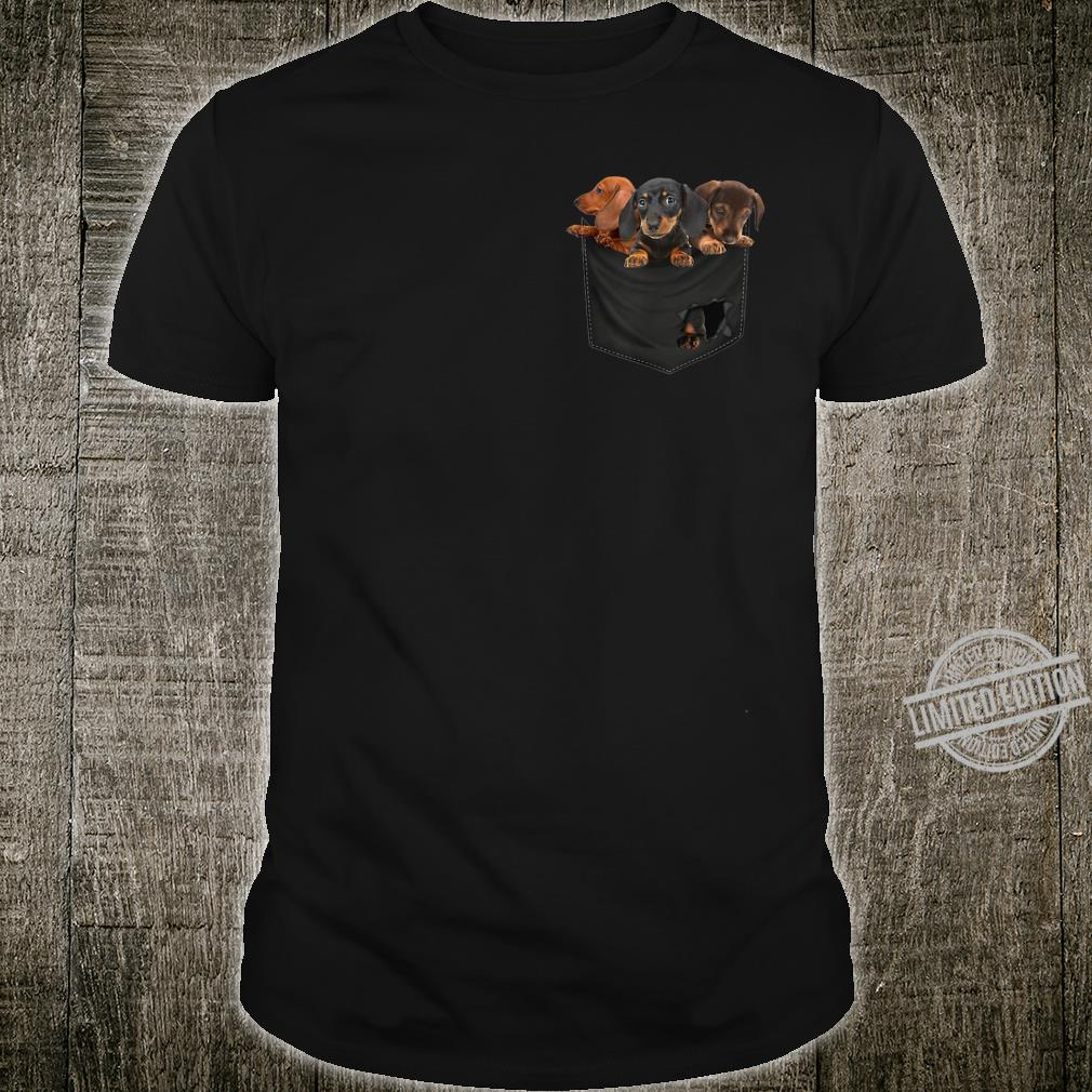 Funny Dachshund in Your Pocket for Dogss Shirt
