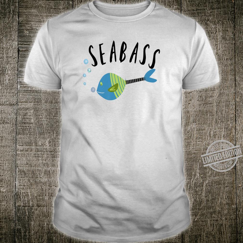Funny Seabass fishing music guitar student teacher Shirt