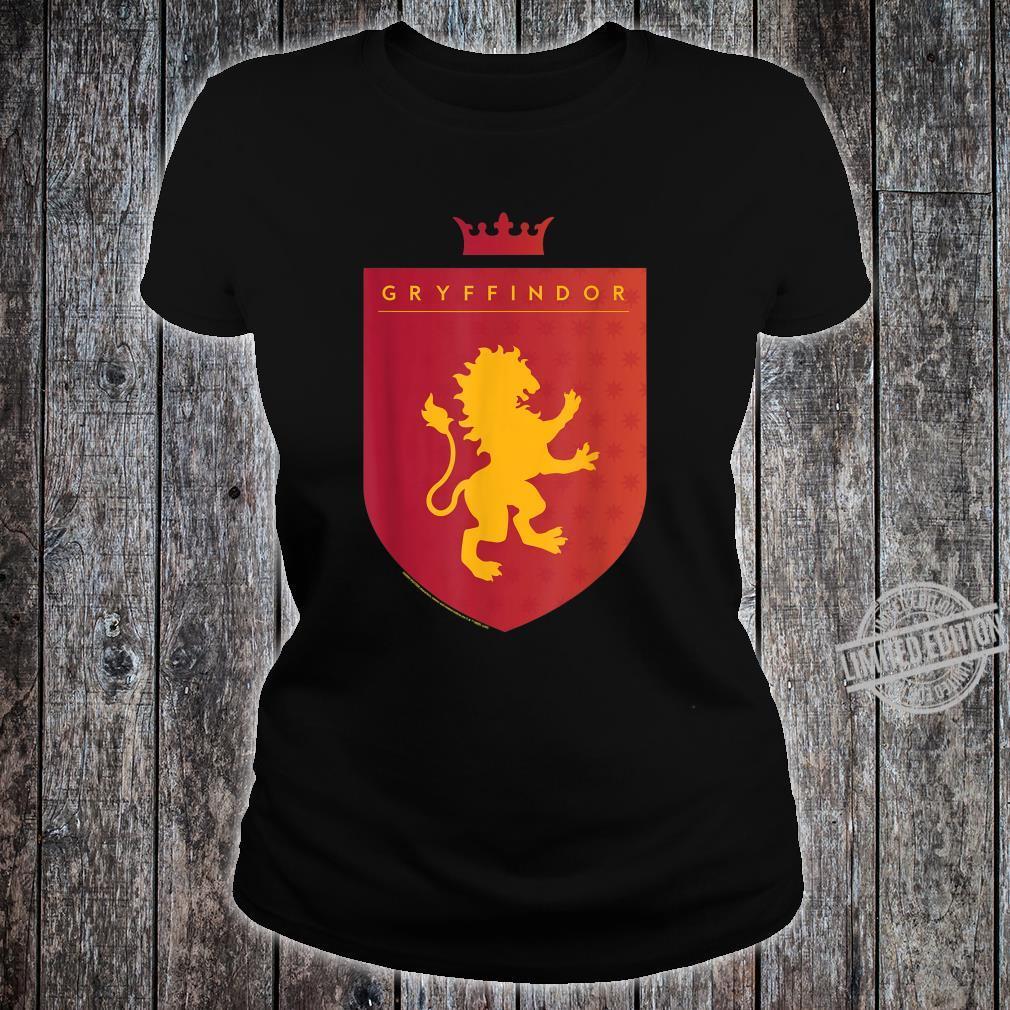 Harry Potter Gryffindor Shield Crest Shirt ladies tee