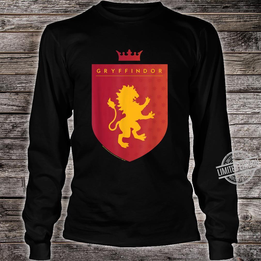 Harry Potter Gryffindor Shield Crest Shirt long sleeved