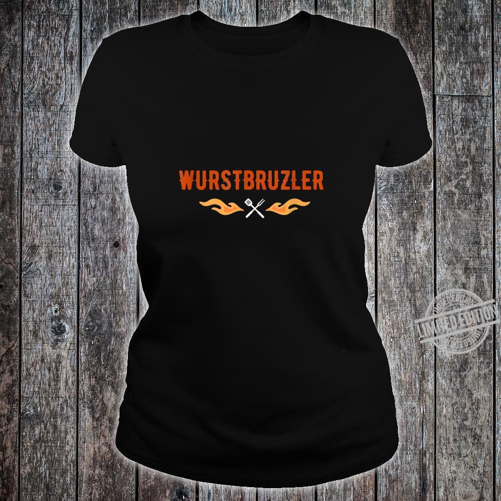 Herren Wurstbrutzler Geschenk für Griller BBQ Papa Shirt ladies tee