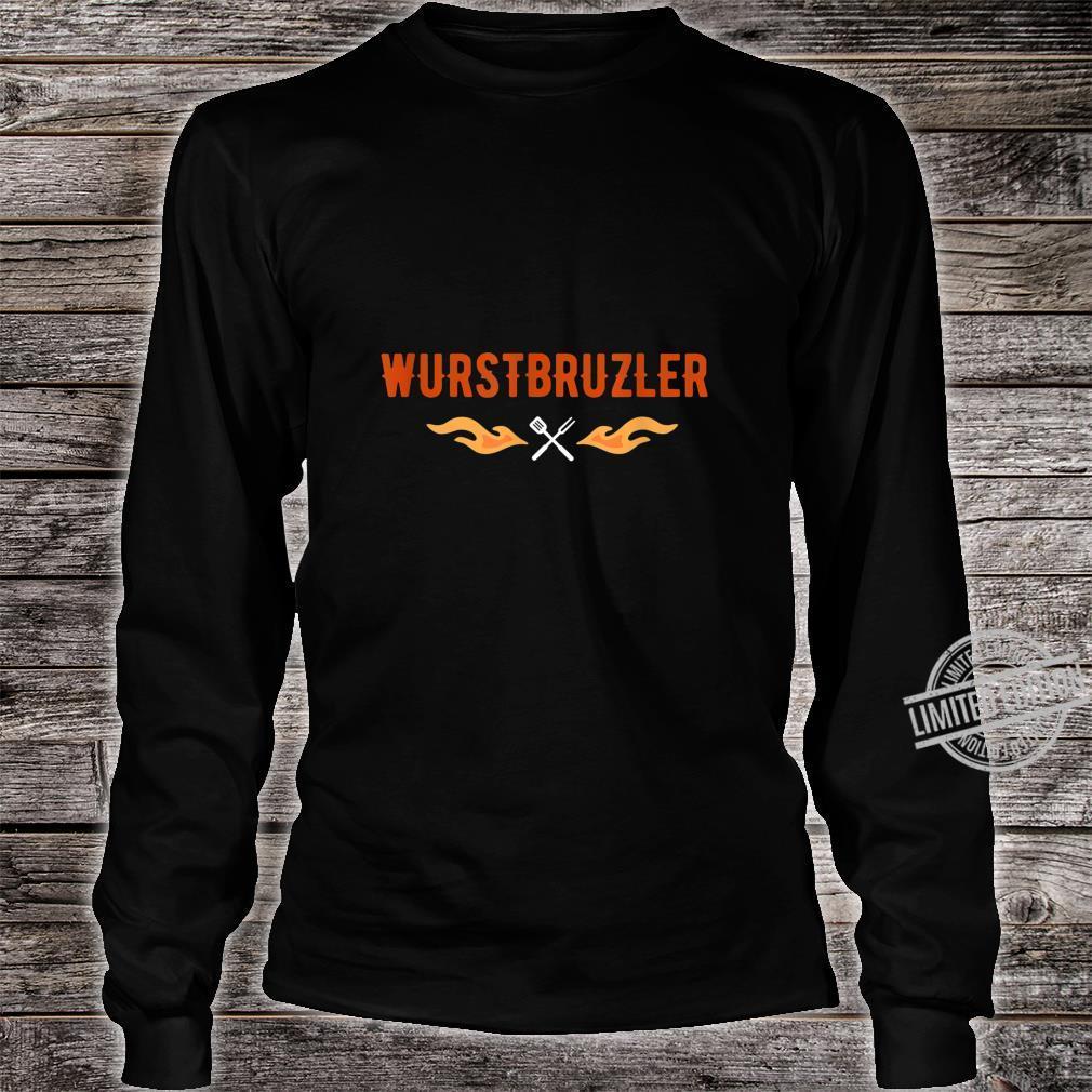 Herren Wurstbrutzler Geschenk für Griller BBQ Papa Shirt long sleeved