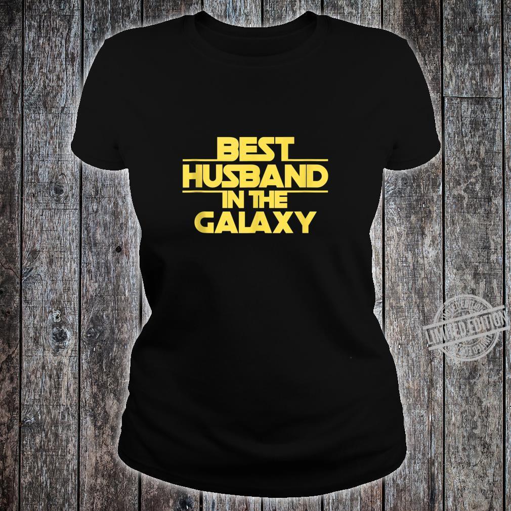 Husband Gift, Best Husband Best Husband In The Galaxy Shirt ladies tee