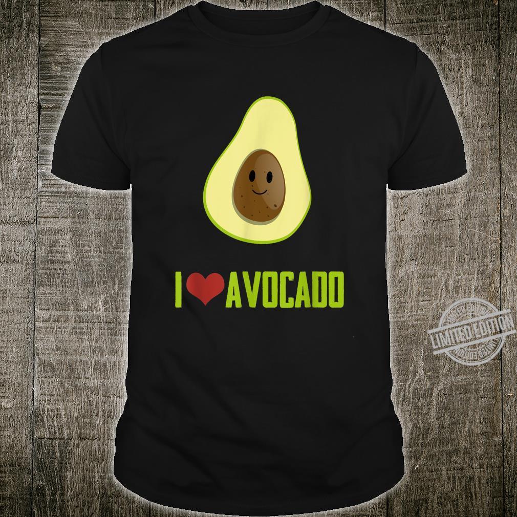 I Love Avocado Cute Food Shirt