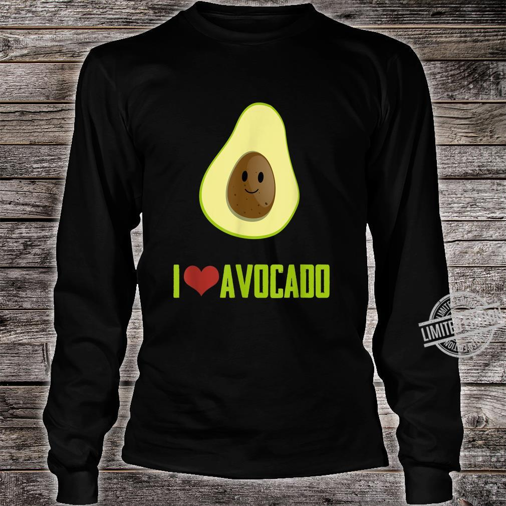 I Love Avocado Cute Food Shirt long sleeved