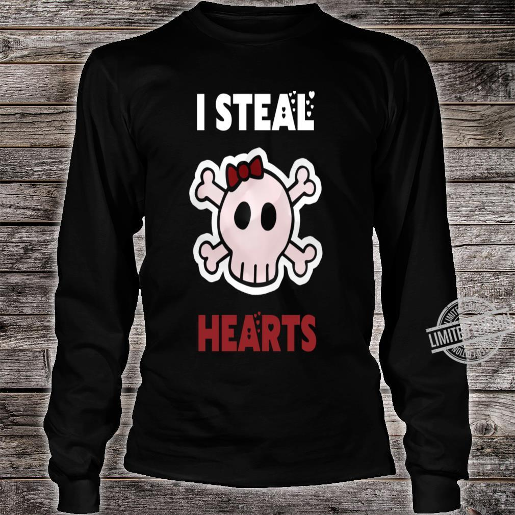 I Steal Hearts Valentines Day Shirt long sleeved