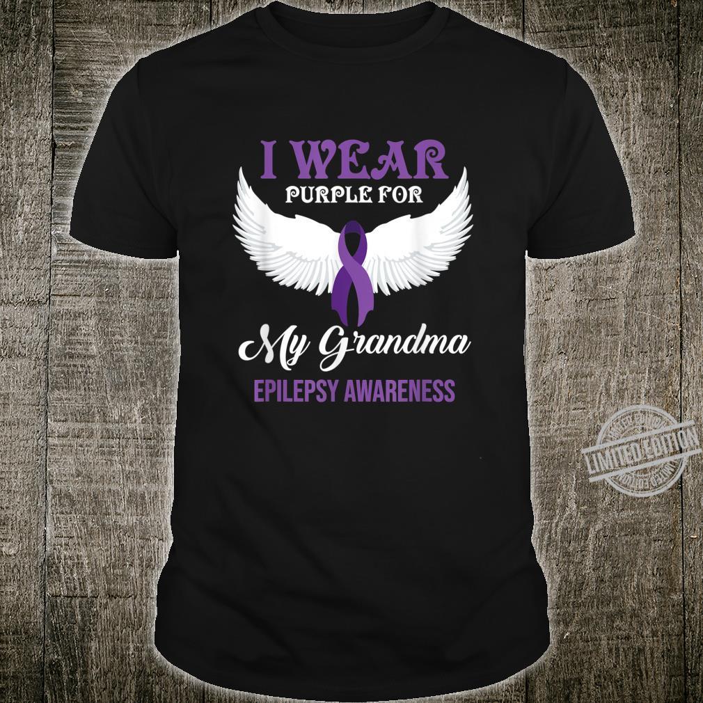 I Wear Purple For My Grandma Epilepsy Awareness Shirt