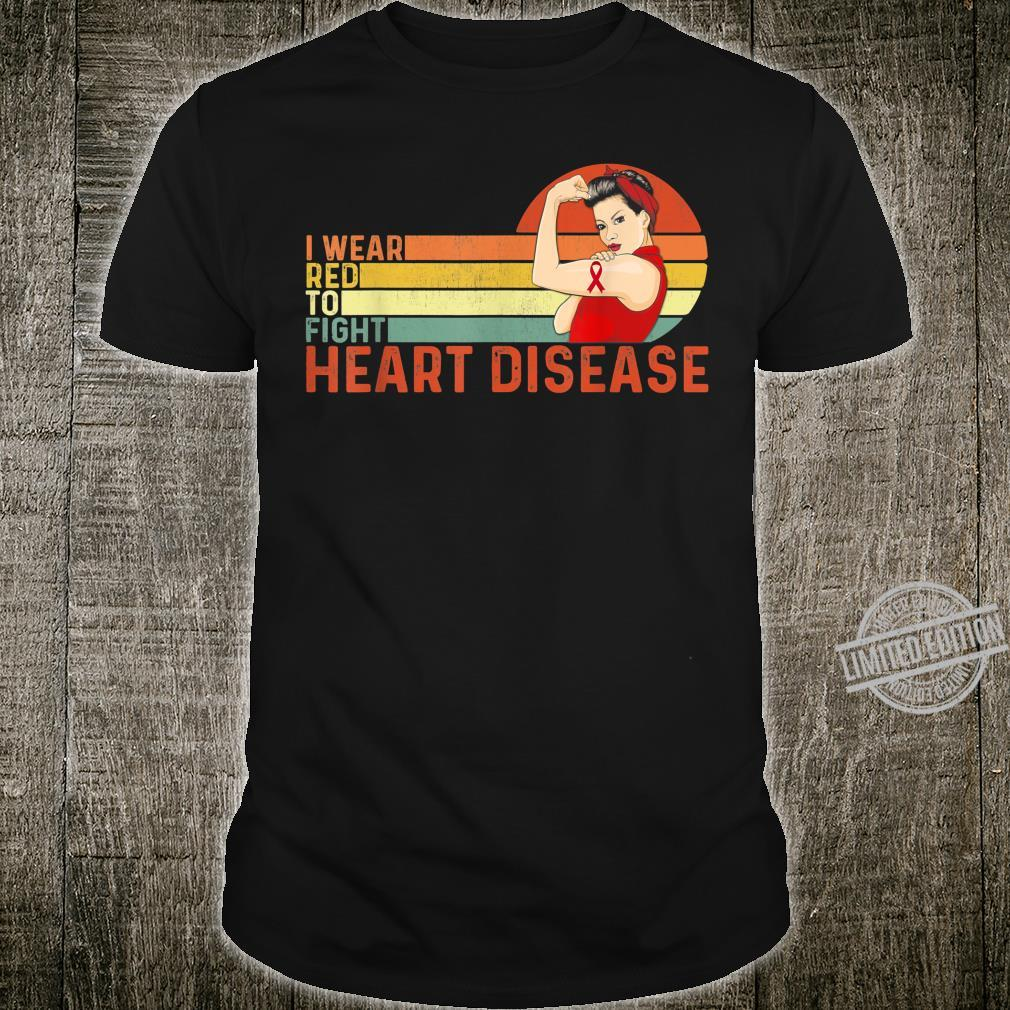 I Wear Red To Fight Heart Disease Awareness CHD Vintage Shirt