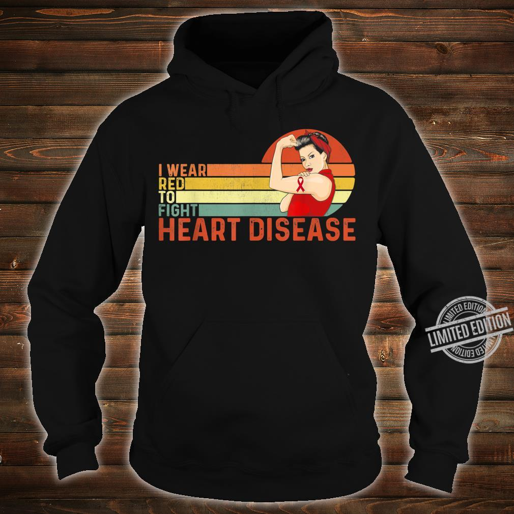 I Wear Red To Fight Heart Disease Awareness CHD Vintage Shirt hoodie