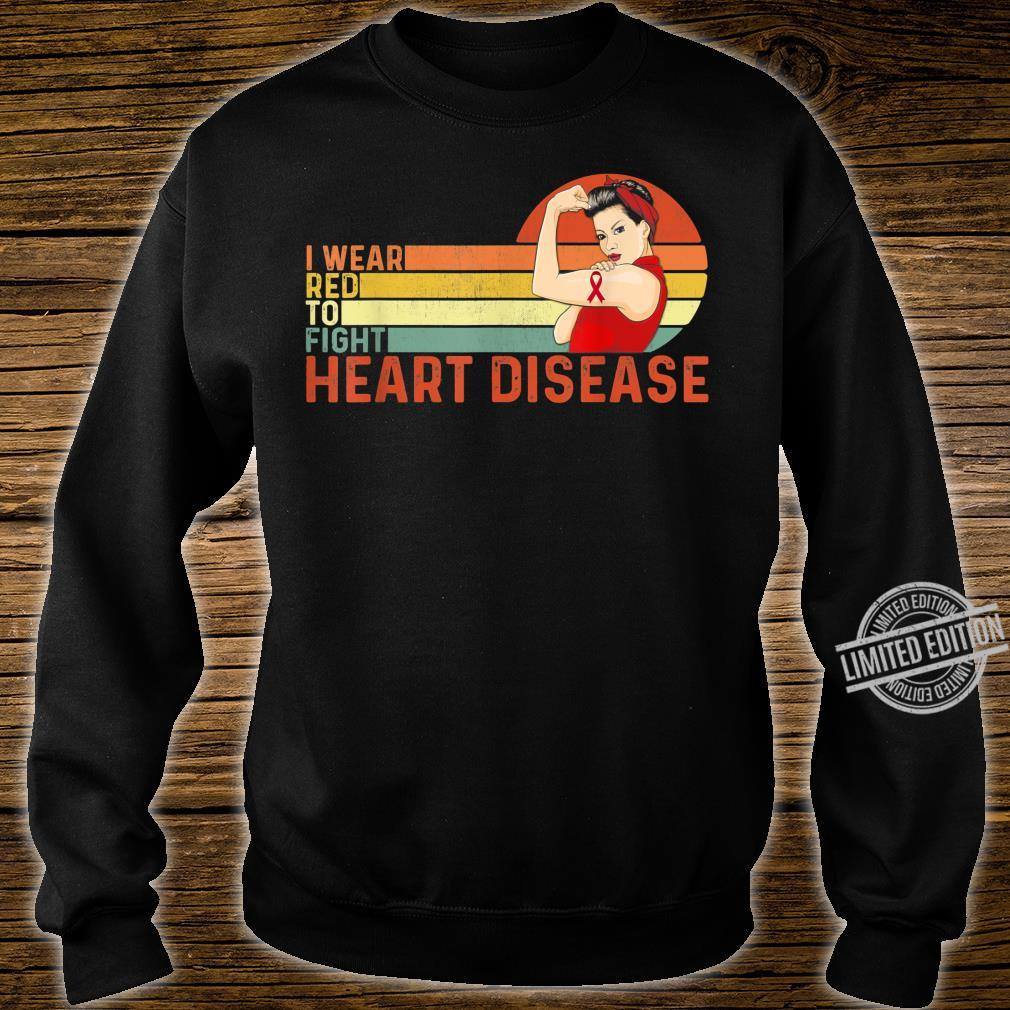 I Wear Red To Fight Heart Disease Awareness CHD Vintage Shirt sweater