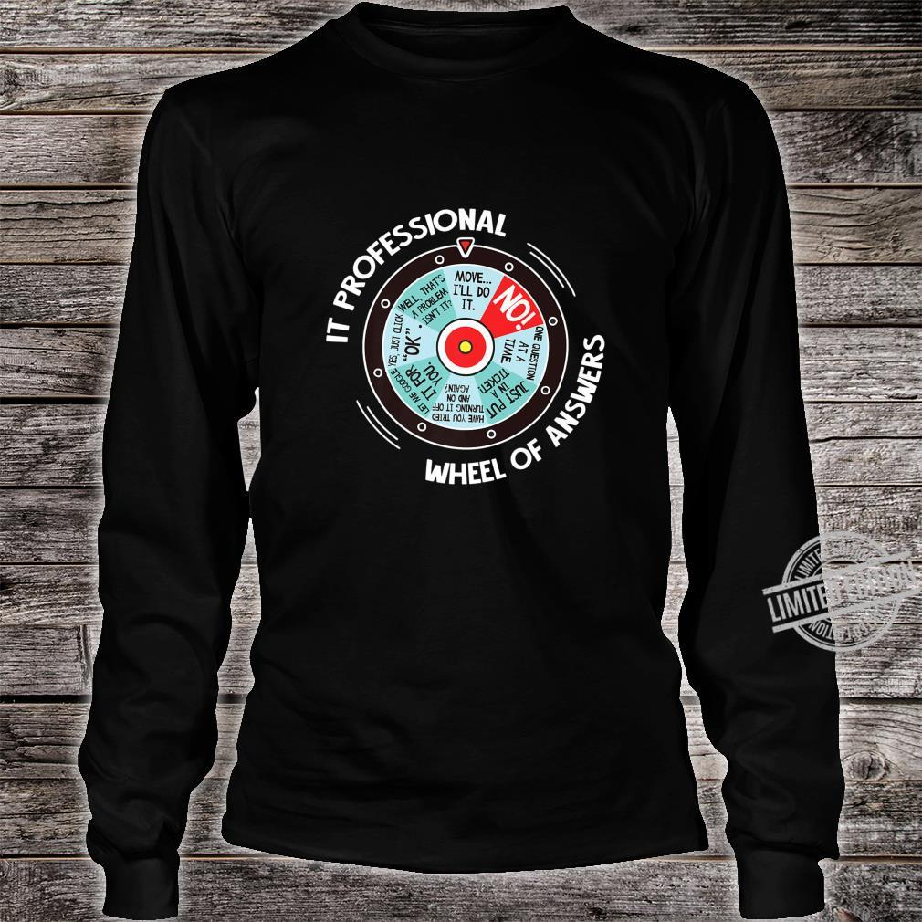 IT Professional Wheel Of Answers IT Tech Check List Shirt long sleeved