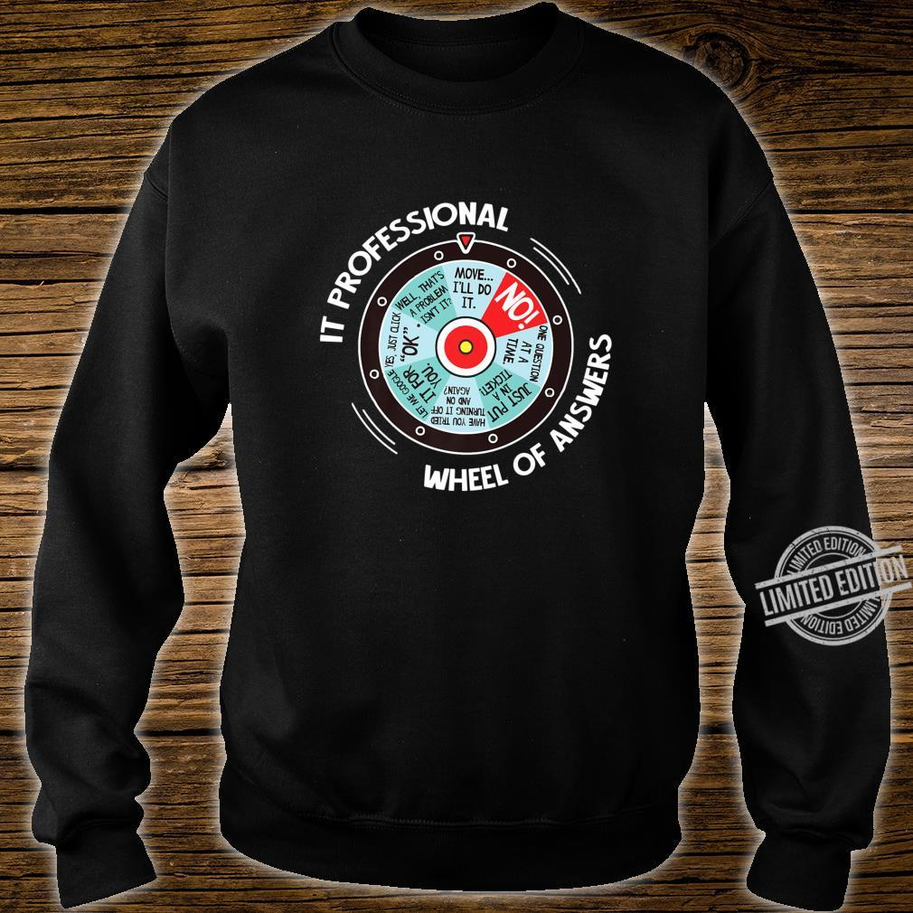 IT Professional Wheel Of Answers IT Tech Check List Shirt sweater