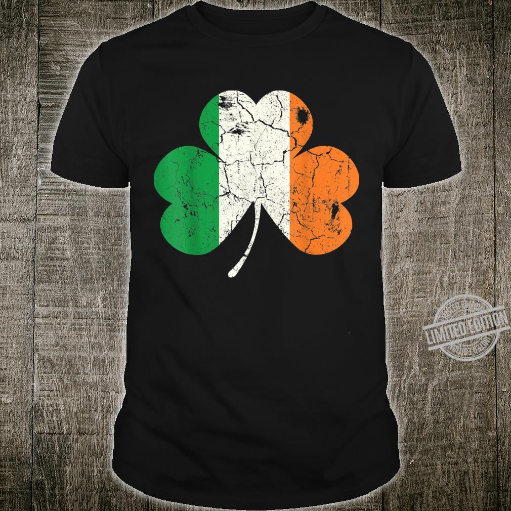 Ireland Irish Flag Shamrock Clover St Patricks Day Faded Shirt