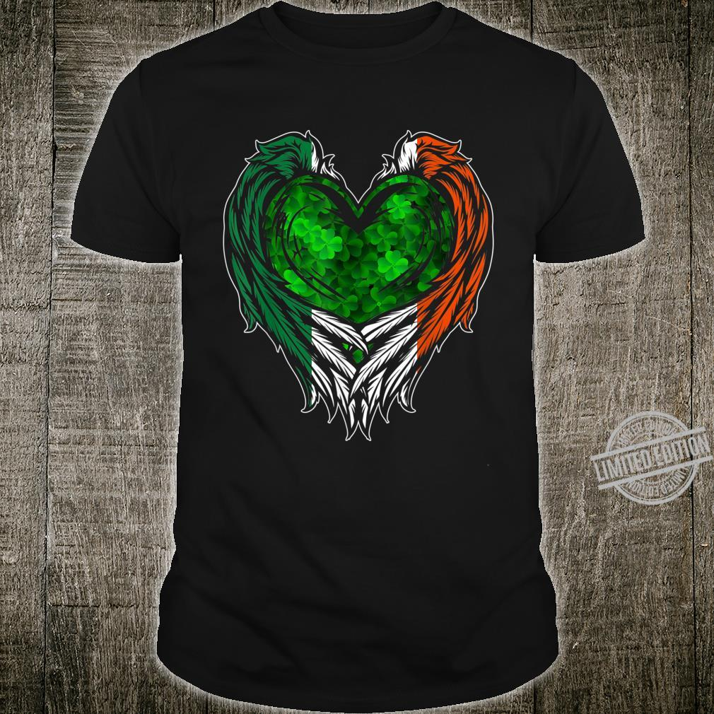 Irish Wings Shamrock Heart Ireland St. Patricks Day Shirt