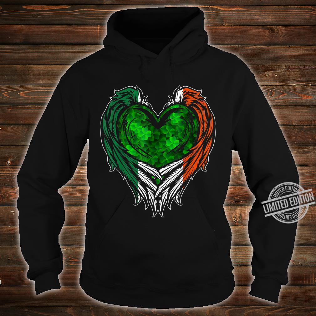 Irish Wings Shamrock Heart Ireland St. Patricks Day Shirt hoodie