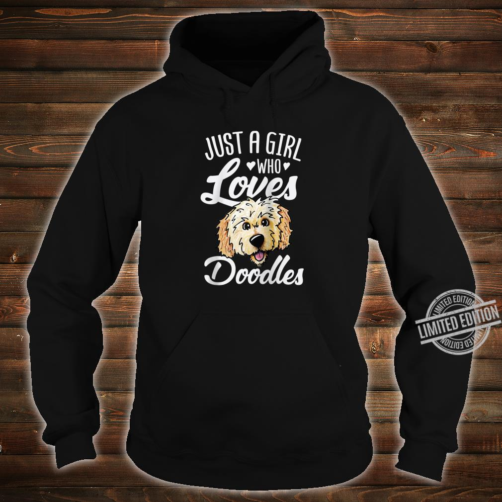 Just A Girl Who Loves Doodles Cute Golden Doodle Dog Shirt hoodie