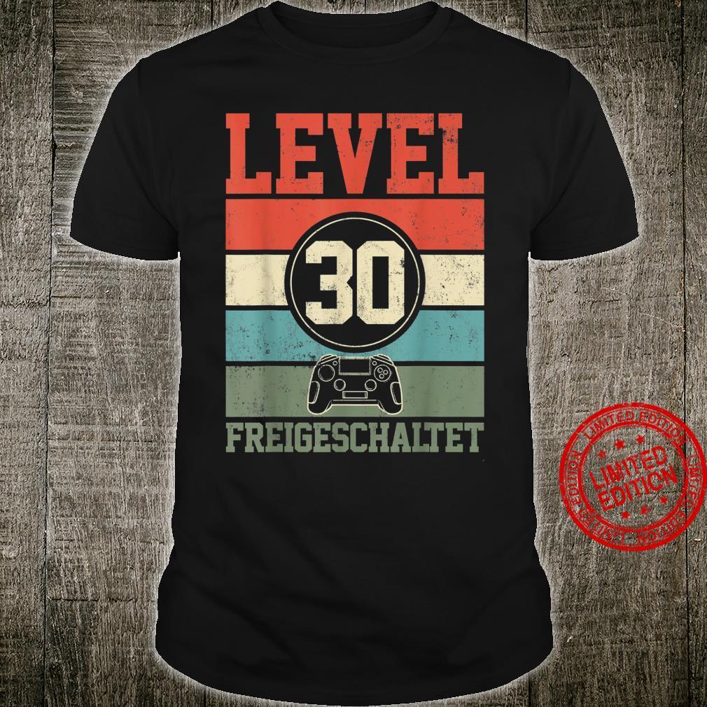 Level 30 Freigeschaltet Geburtstagsgeschenk für Gamer Gaming Shirt
