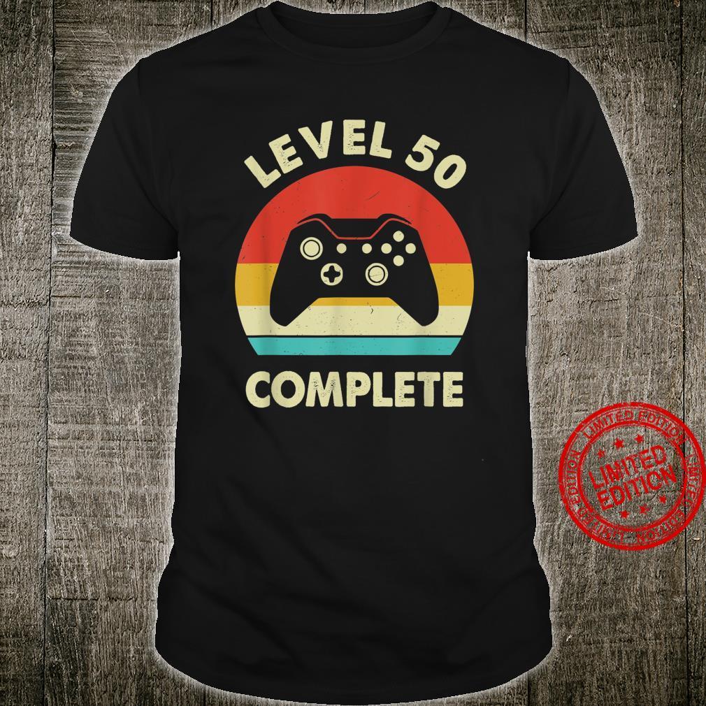 Level 50th Complete Retro 50 Year Wedding Anniversary Shirt