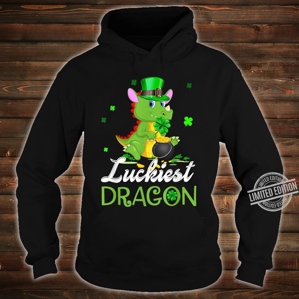 Luckiest Dragon St Patricks Day Dragon Shirt hoodie