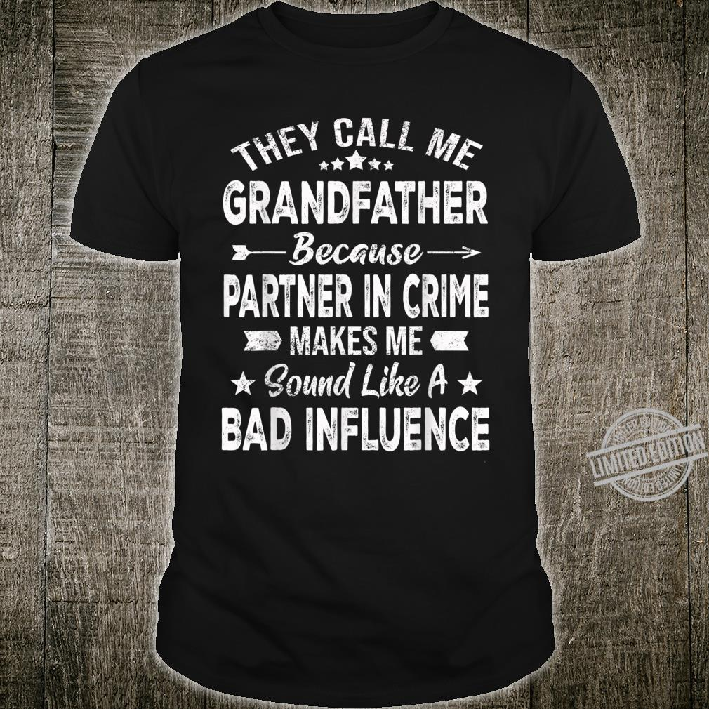 Mens Grandfather Family Christmas Fathers Day Shirt