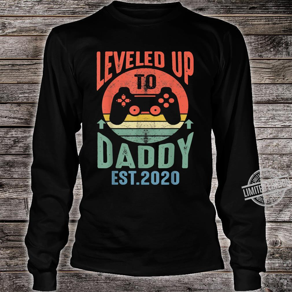 Mens I Leveled up to Daddy 2020 Promoted to Daddy Est 2020 Shirt long sleeved
